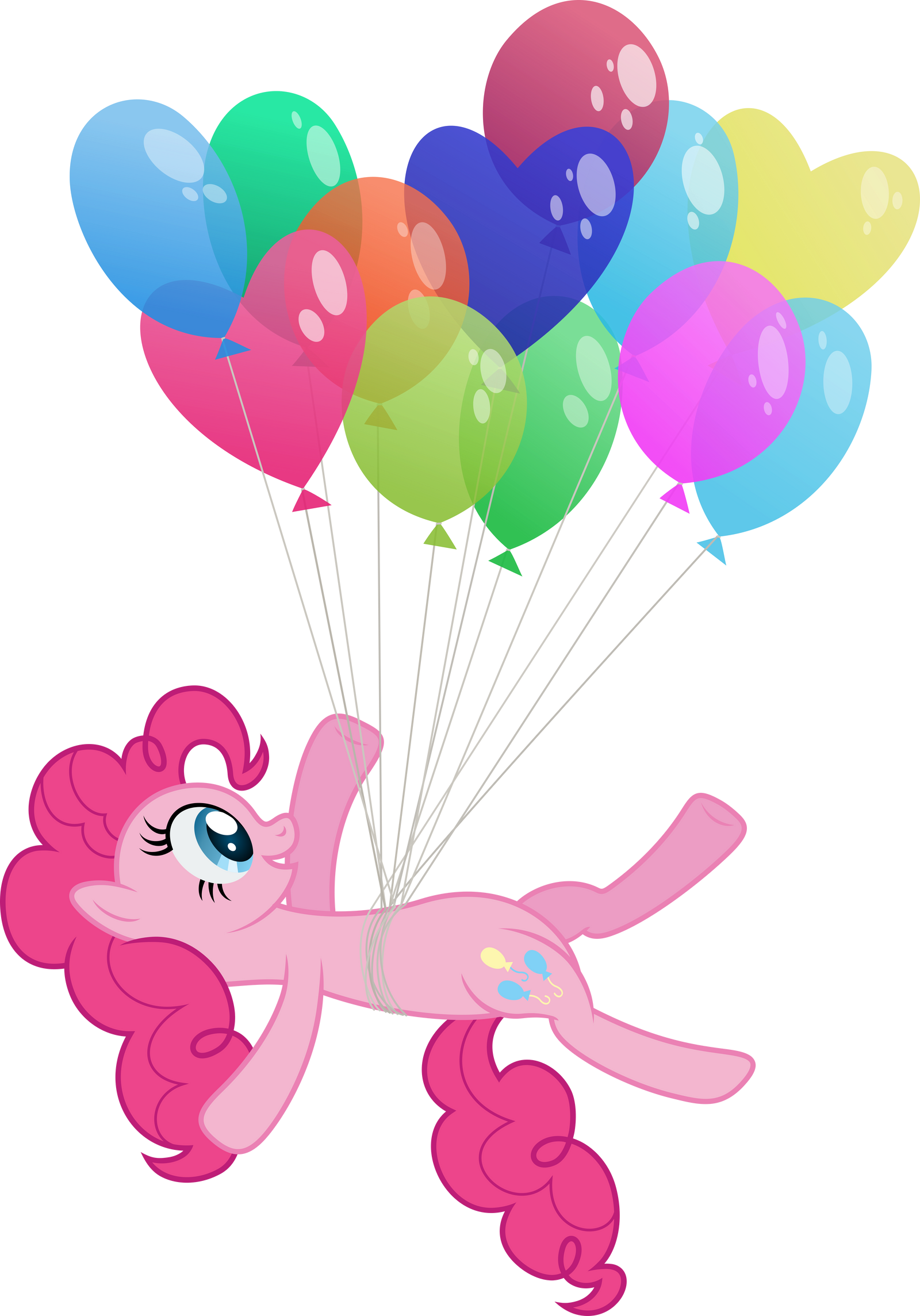 Floating Pinkie Pie by Stabzor