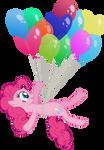 Floating Pinkie Pie