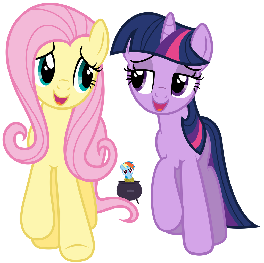Fluttershy and Twilight - A true, true frined by Stabzor