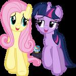 Fluttershy and Twilight - A true, true frined