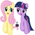 Fluttershy and Twilight - A true, true frined