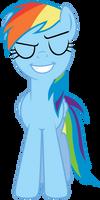 Smug Rainbow Dash by Stabzor