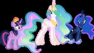 Three princesses by Stabzor