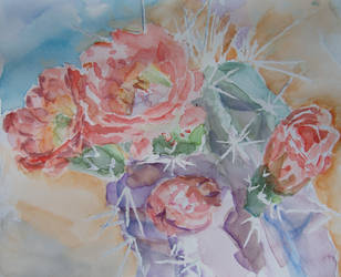 Cactus Watercolor I by Erronius