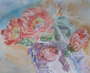 Cactus Watercolor I