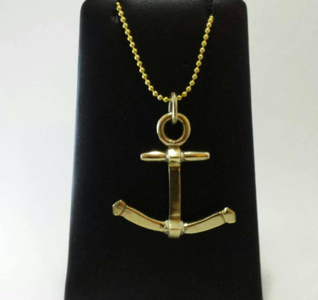 Brass anchor pendant
