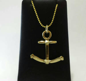 Brass anchor pendant