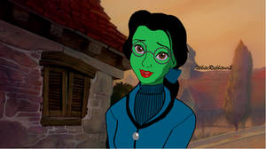 Wicked Disney Cast: Belle as Elphaba. by WhiteRabbitver2