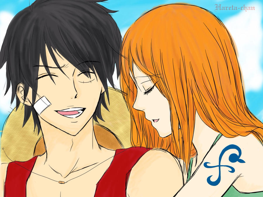 A Moment With You - Luffy x Nami by Hareta-chan on DeviantArt