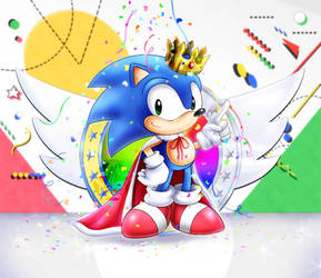Sonic 25th Anniversary by AlcyoneAX
