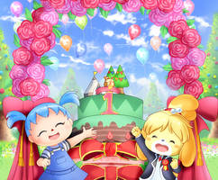 Animal Crossing: Pocket Camp 1st anniversary by AlcyoneAX