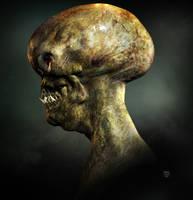 Alien mask concept for film (profile) by VILLAS7