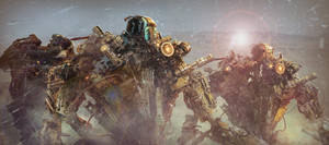 ALIEN ROBOT ARMY by VILLAS7