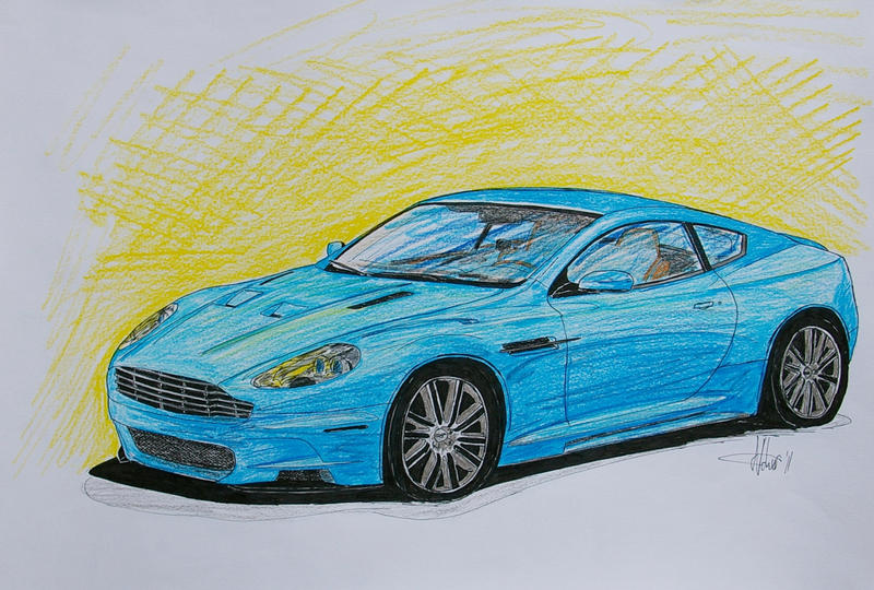 Aston Martin Dbs Drawing By Shadowphotography On Deviantart