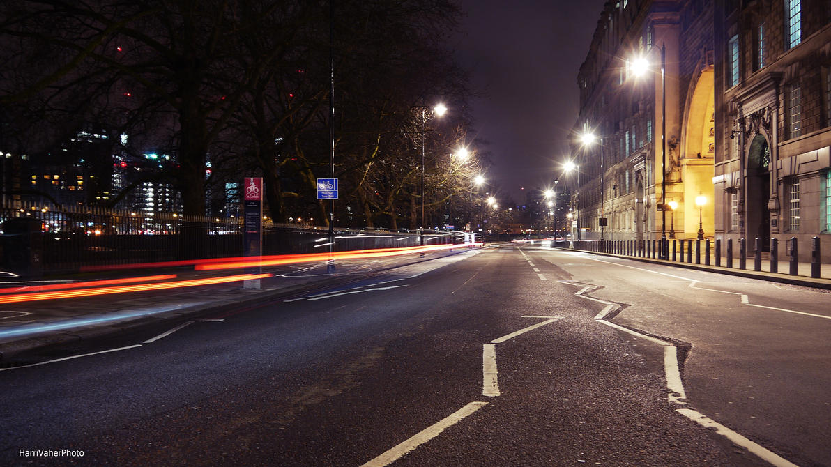 London streets at night by ShadowPhotography