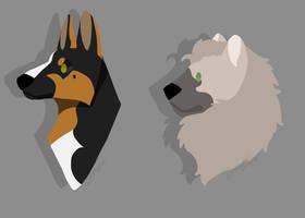 Lineless Pups by KingKinu