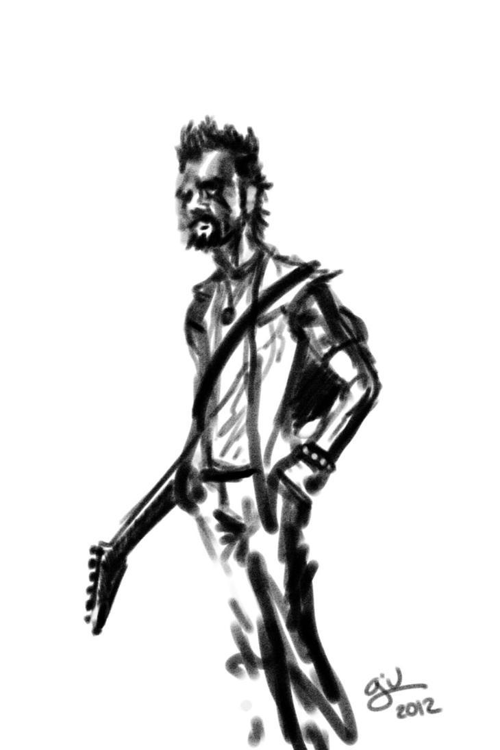 Guitar player sketch by fergil on DeviantArt