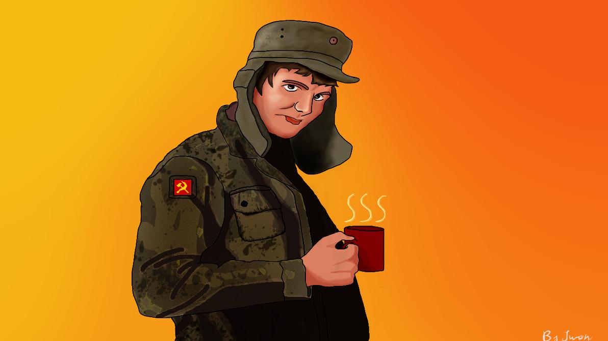 Soviet Guardian of the Zamosc by IwonMiszczPainta