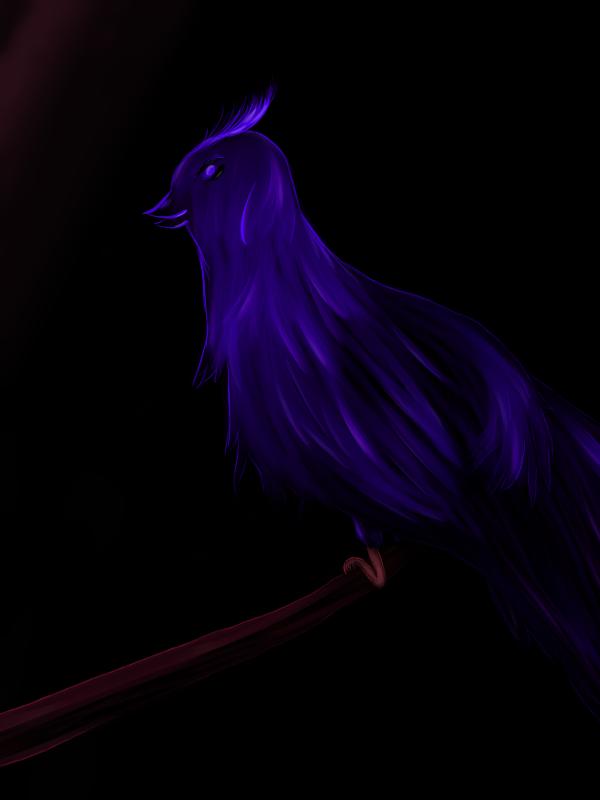 A neon bird by IwonMiszczPainta