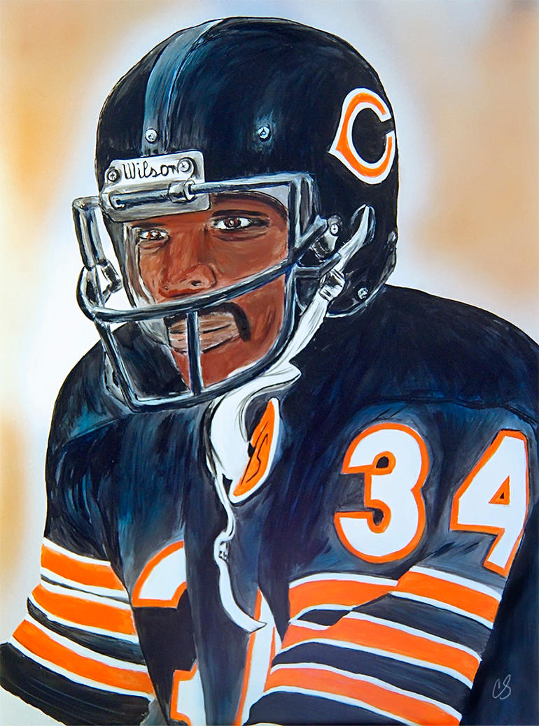 walter payton painting by dx on deviantart