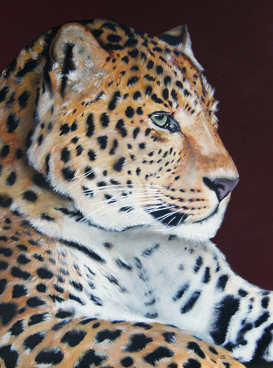Spotted Leopard painting by dx