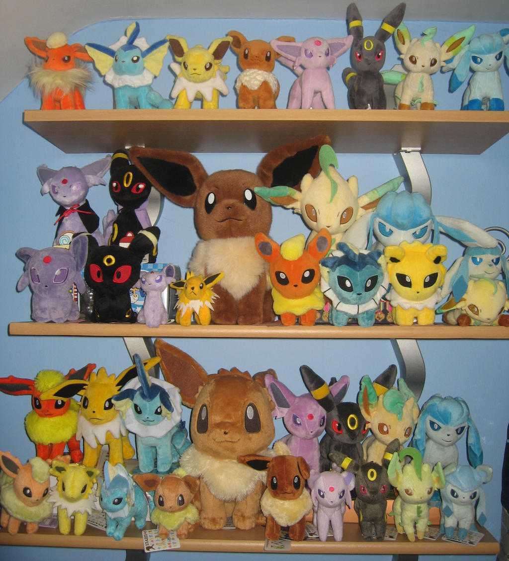 Updated Eeveelution Plush Collection by MizukiiMoon