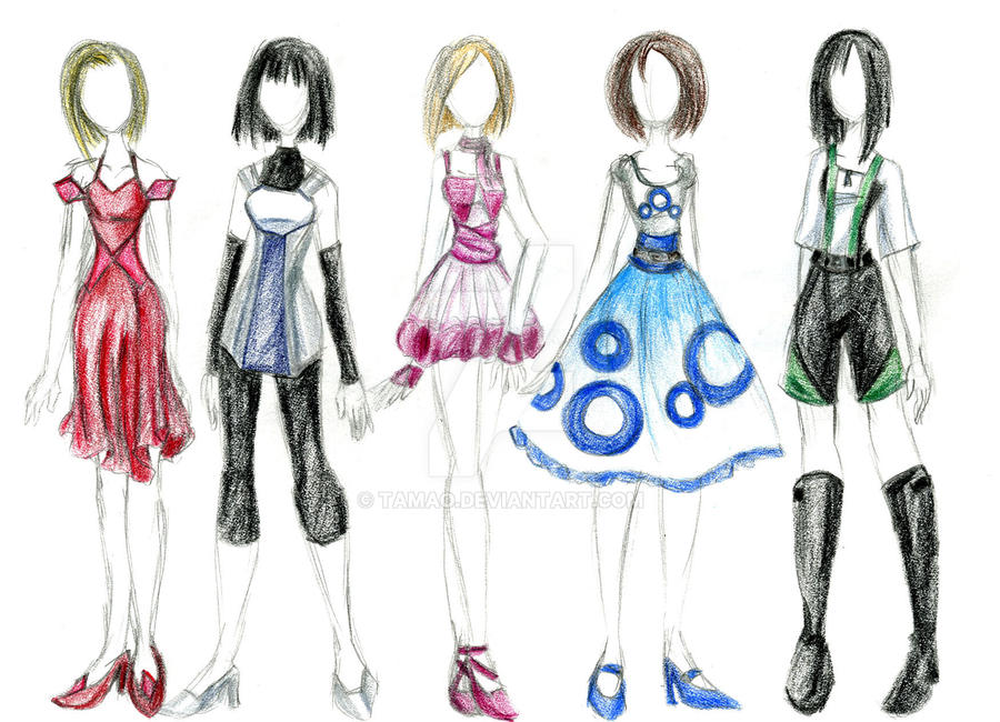 fashion sketches shapes by tamao on deviantart