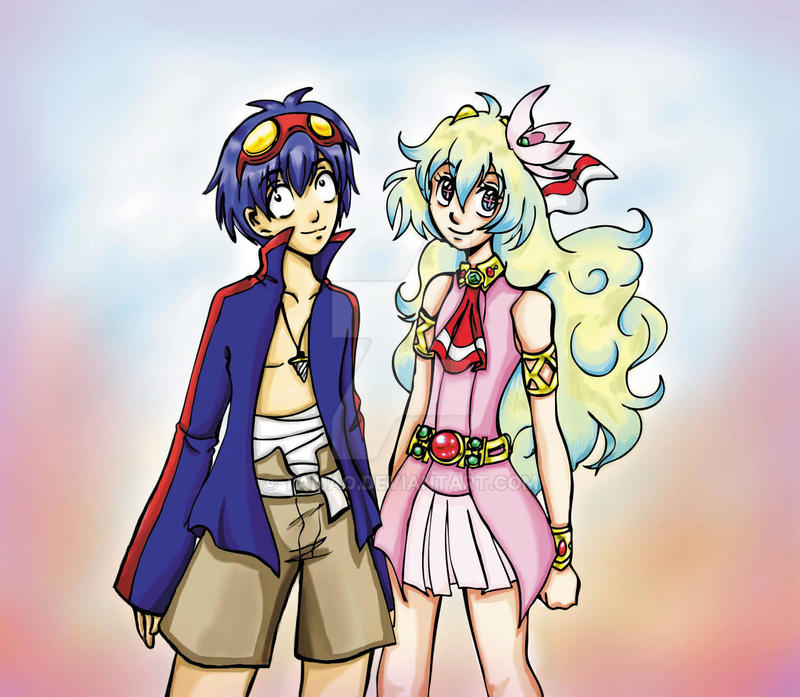 Nia and Simon by Tamao on DeviantArt