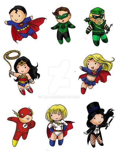 DC Heroes Chibi Set By Tamao On DeviantArt