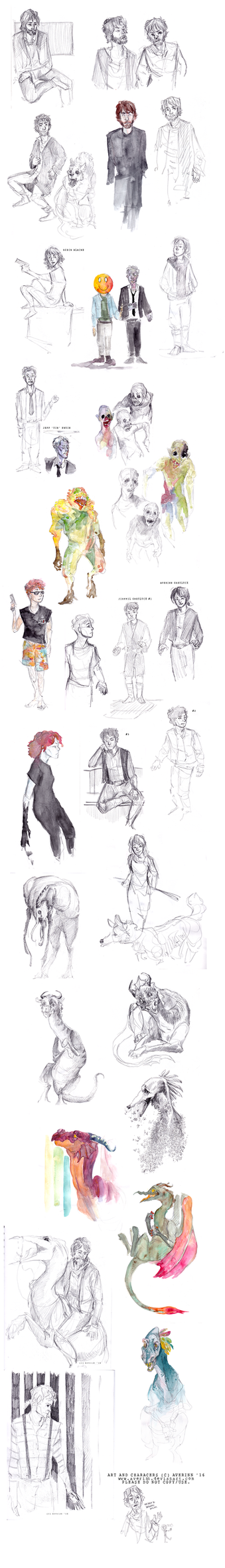 Sketchdump 003 by Averinn