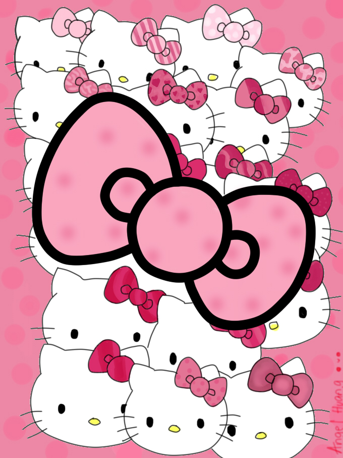 hello kitty bow by angeltheangel - Hellokitty