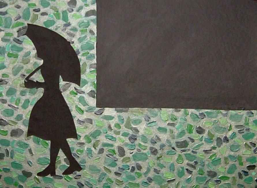 Outside the Window- Green by Kariwani