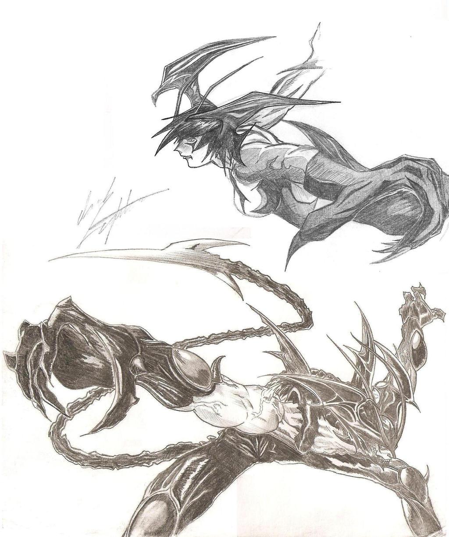 Devilman And Devil Lady By Darkfighter000 On DeviantArt
