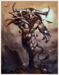 The minotaur's last onslaught