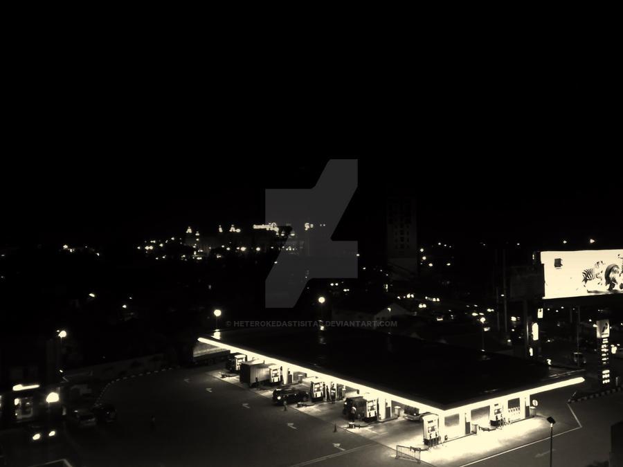 night at gas station by heterokedastisitas on DeviantArt