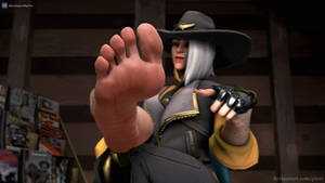 [Overwatch] Ashe's bare sole