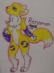 Renamon by JadeArcticWolf