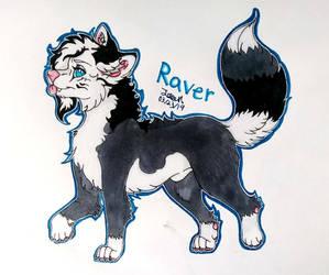 Raver (Art Trade With UsaretamaSai) by JadeArcticWolf