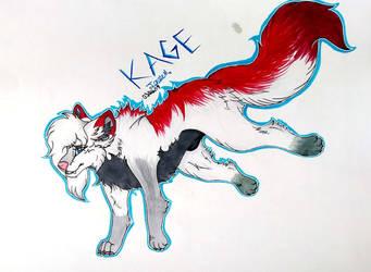 Kage (Art Trade With UsaretamaSai) by JadeArcticWolf