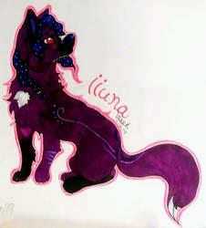 Iiuna (Art Trade With LolPeaceOut) by JadeArcticWolf