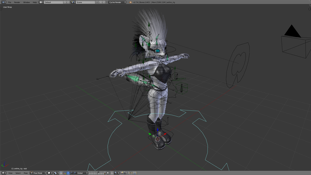 Blenderella Character Modeling In Blender 2 5 Download : Customizable furry character for blender by