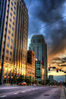 SLC Street Sunset by TPextonPhotography