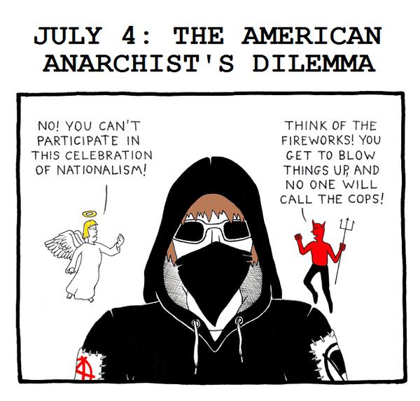 Anarchist's Independence Day by RednBlackSalamander on ...