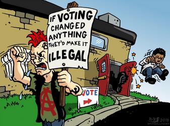 Voting Boot by RednBlackSalamander