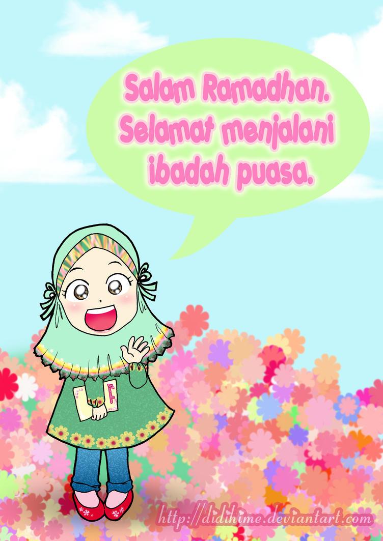 Gambar Kartun Muslimah Ramadhan Kantor Meme