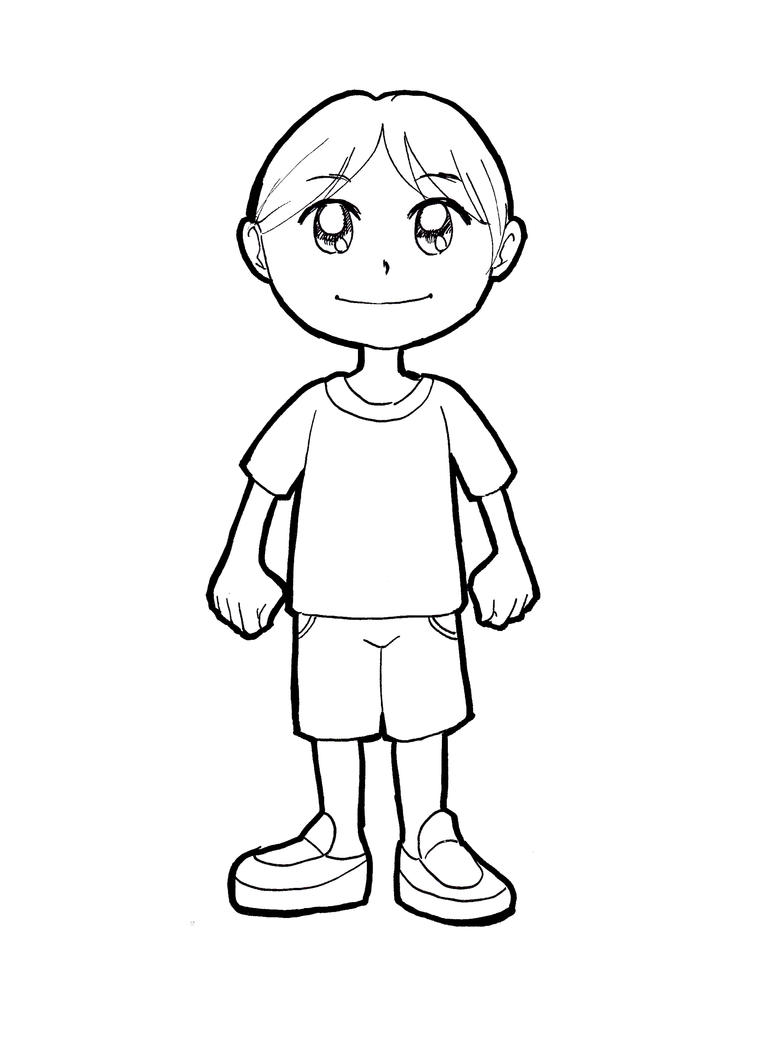 Line Drawing Boy Face : Boy by didihime on deviantart