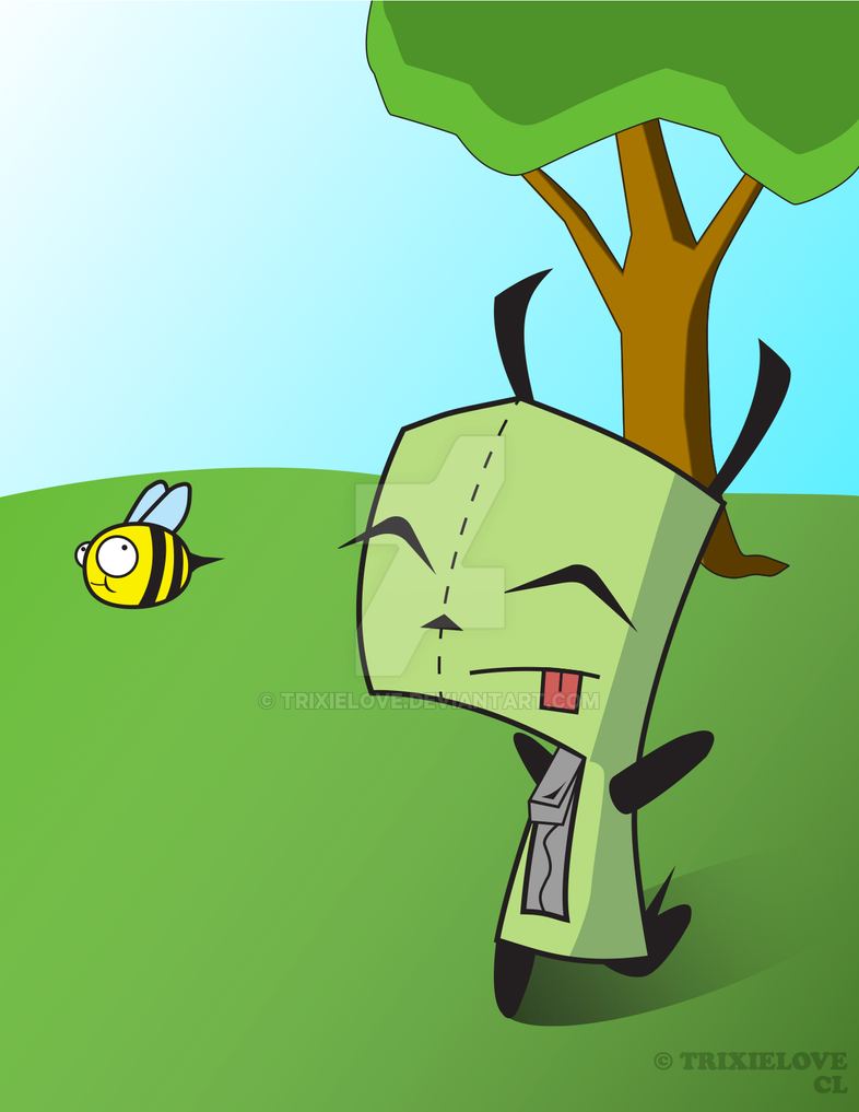 GIR and Death Bee by TrixieLove