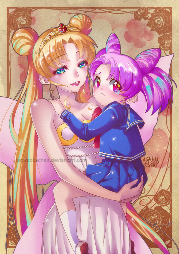 Serenity and Chibiusa by iamtabbychan