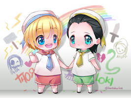 Asgard Little Brothers by iamtabbychan