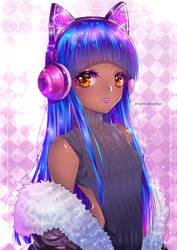 Blue Hair by iamtabbychan